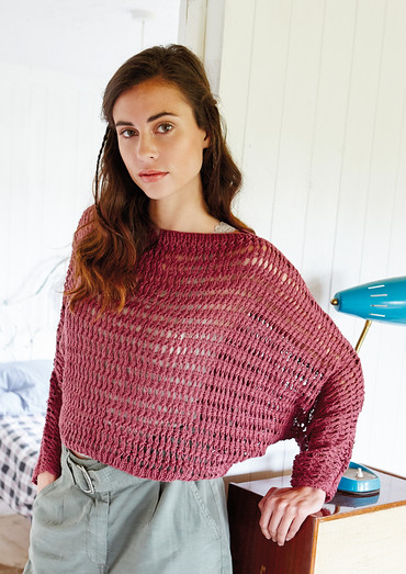 Jalela by Vibe Ulrik Sondergaard for Rowan knit using Rowan Creative Linen