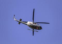 Helicoptero sanitario trabaJando para Ib-Salud