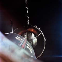 The Agena Target Docking Vehicle seen from the National Aeronautics an
