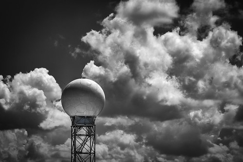 bw blackwhite blackandwhite clouds dome monochrome radar sky tower tomball texas unitedstates us