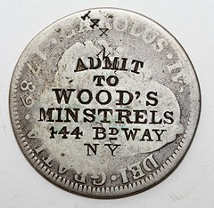 Wood's Minstrels couterstamp roberse