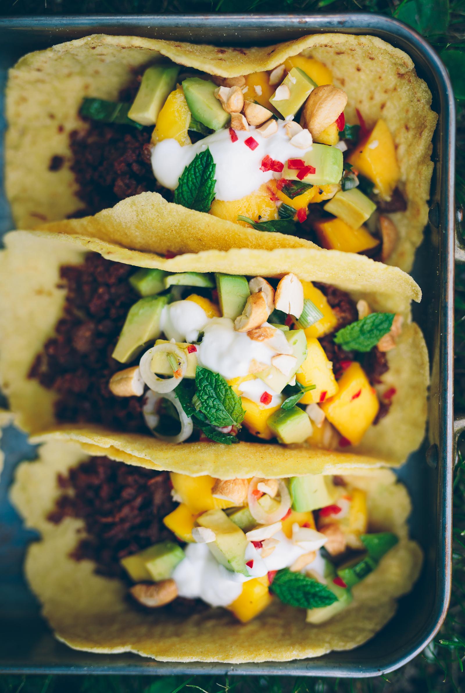 Tacoklämma med Pulled Oats, Avokado & Mangosalsa | Cashew Kitchen