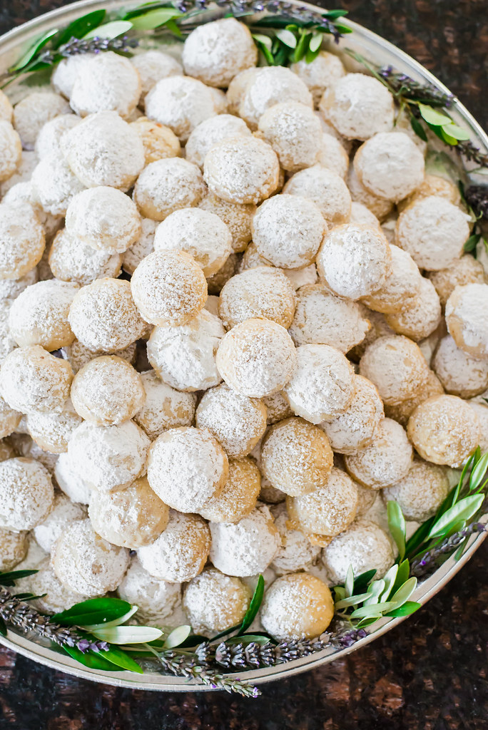 The perfect Holiday cookie, Italian wedding cookies are light as air with almonds, powdered sugar and lots of butter!