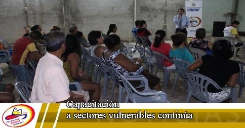Capacitación a sectores vulnerables continúa