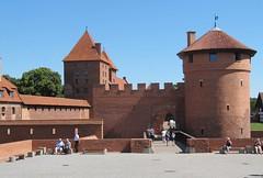 The Teutonic Knights Castle at Malbork, Pomerania, Poland