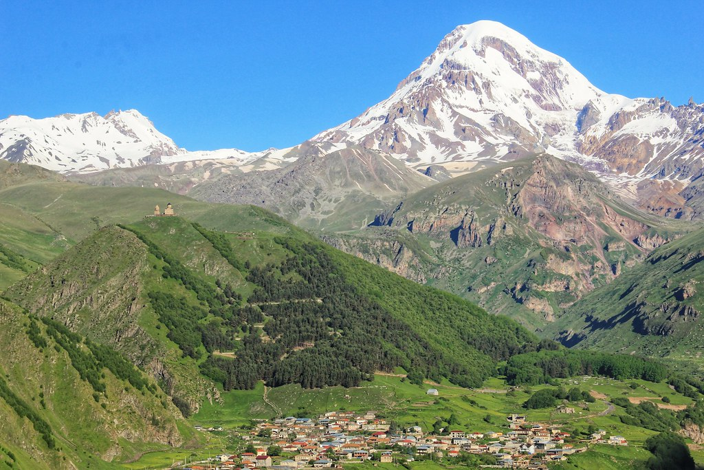 Mount Kazbek, viewed from Rooms Hotel
