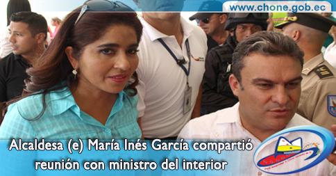 Alcaldesa (e) María Inés García compartió reunión con ministro del interior