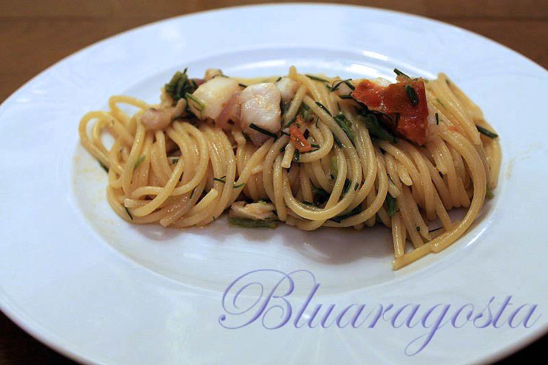 04-spaghetti con sugo di cernia e agretti