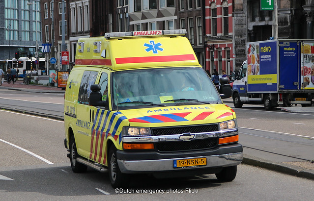 Dutch ambulance Chevrolet express van
