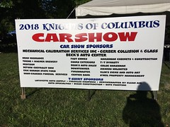 2018 K of C car show sign