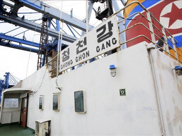 North Korean cargo ship Chong Chon Gang in Panama, July 2013.