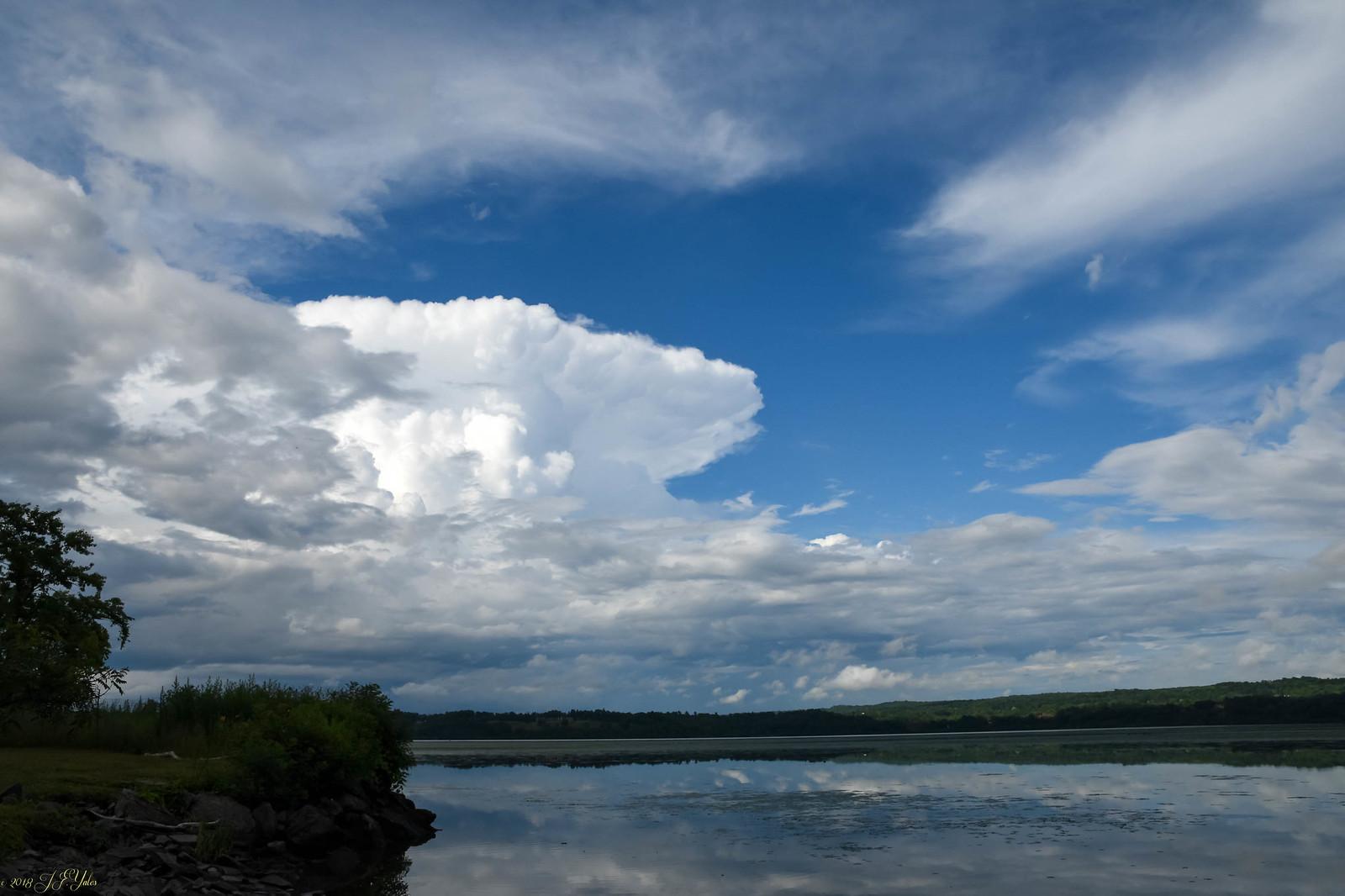 Storm cloud over Hudson