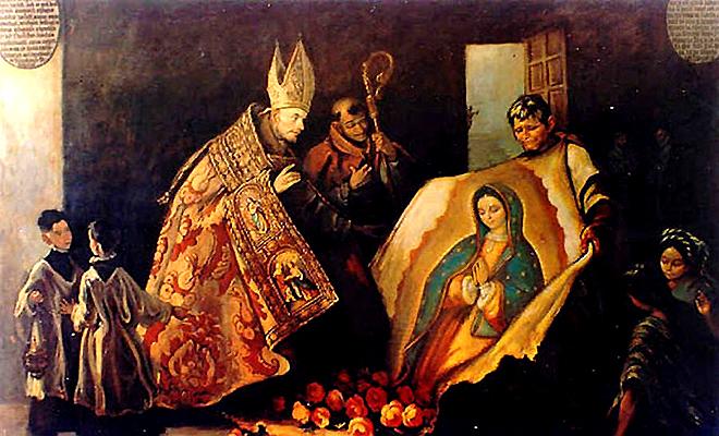 Virgen de Guadalpue, Zumárraga y Juan Diego