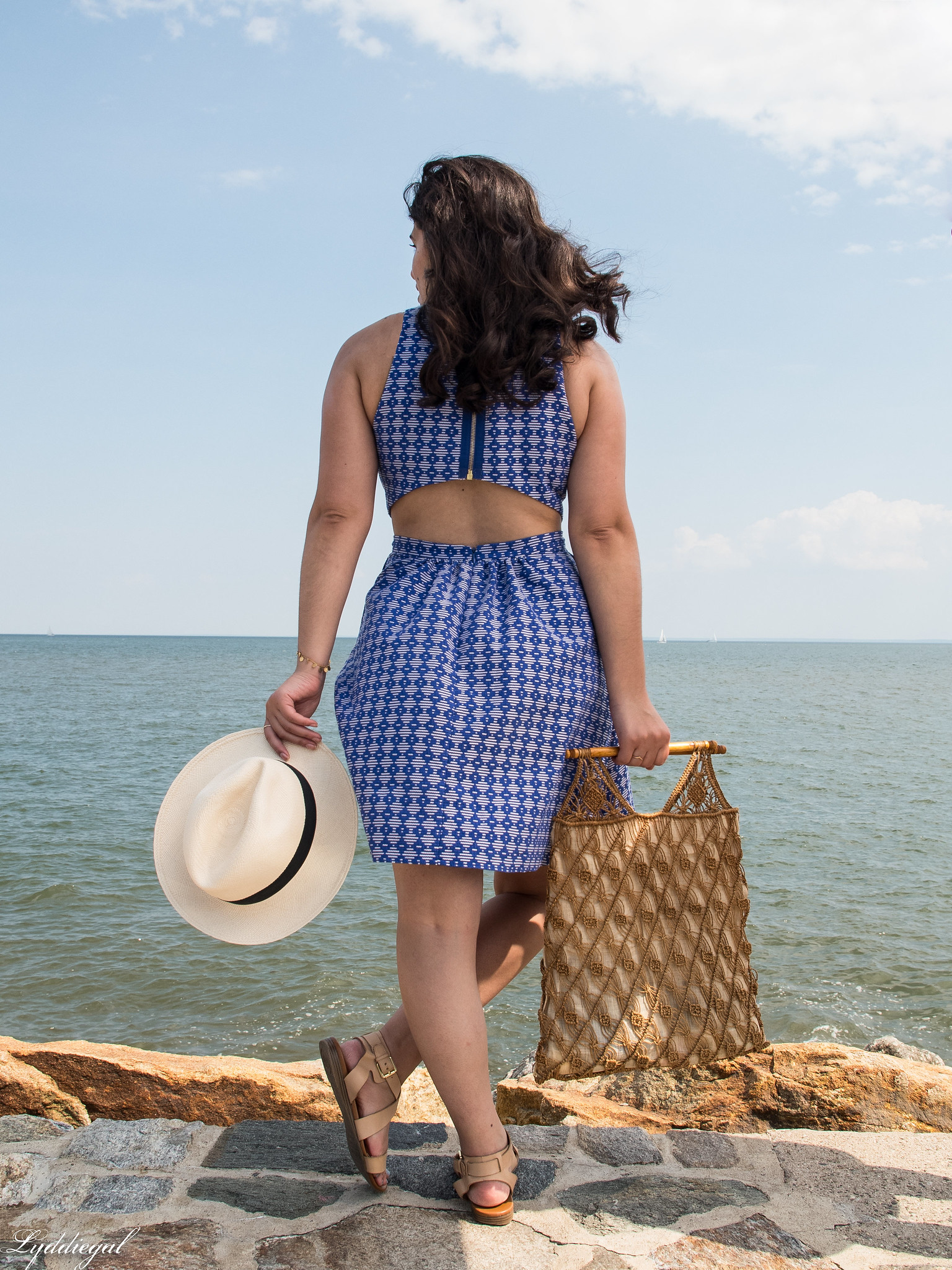blue and white cutout dress, panama hat, macrame bag-19.jpg