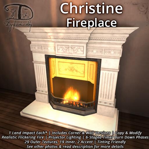 Christine Fireplace - TeleportHub.com Live!