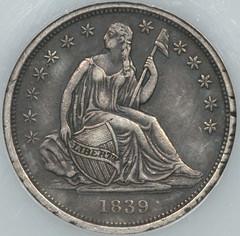 1839-0 Dime obverse cirulation cameo