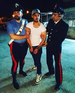 Dany D'Attoma 'arrestato' dai carabinieri