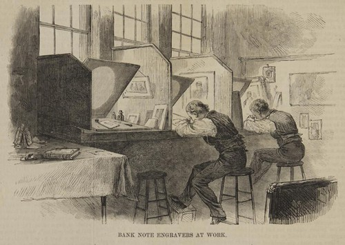 Bank Note Engravers at Work