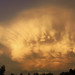 Panorama of mammatus clouds at sunset in Tucson, July 19 2018