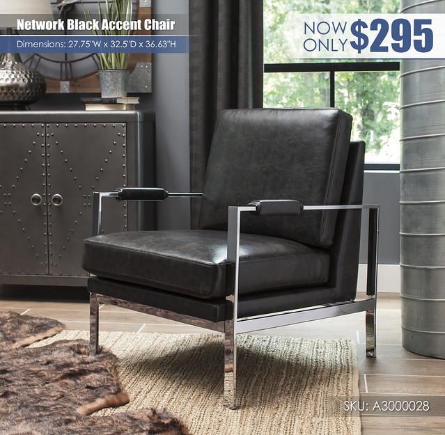 Network Black Accent Chair_A3000028