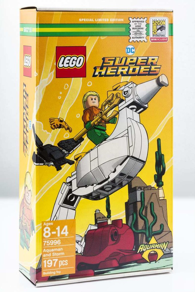 帶你一窺海王的水底日常~~ LEGO 75996 DC Comics Super Heroes 系列【水行俠&海馬Storm】Aquaman and Storm【2018 SDCC 限定】