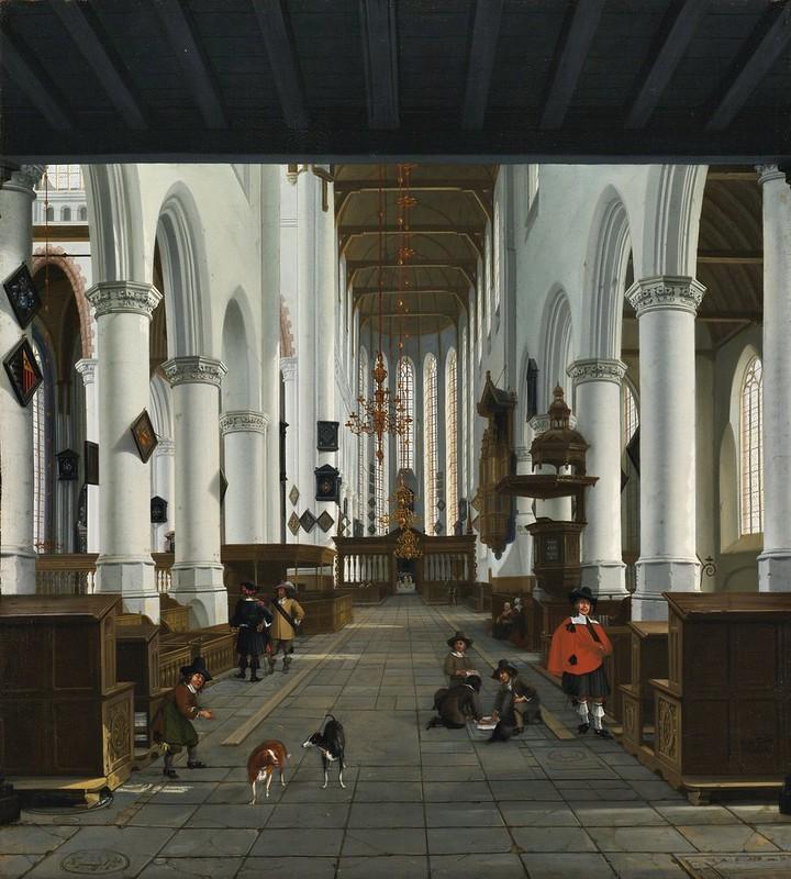 Hendrick Cornelisz. van Vliet - Interior of the Oude Kerk, Delft