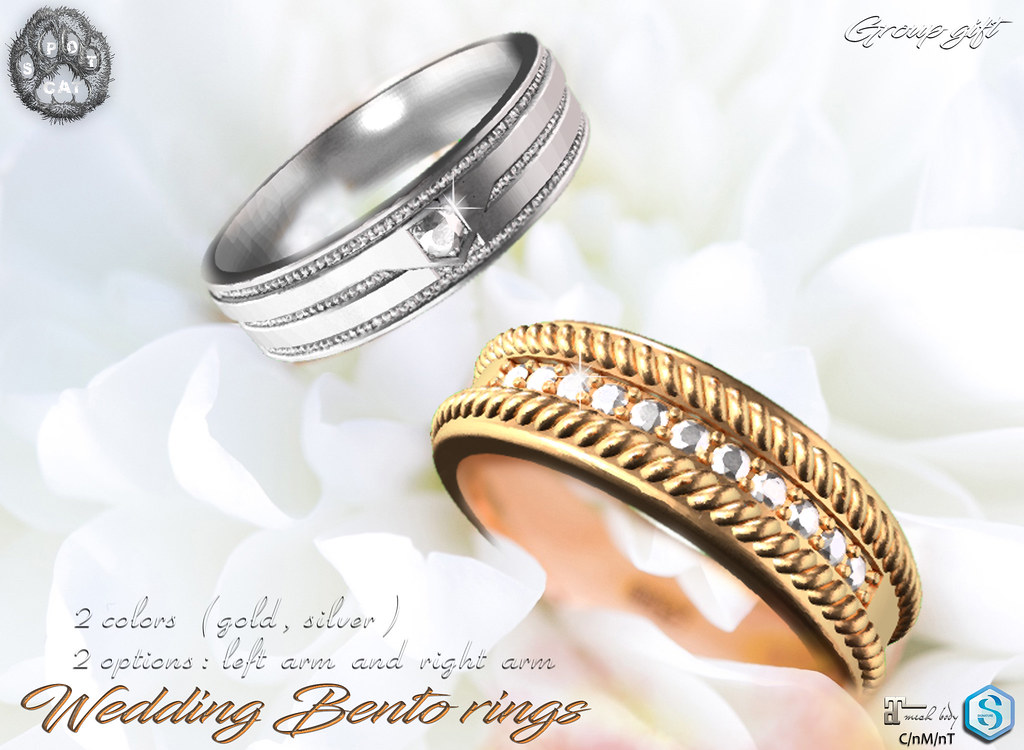 … SpotCat … Wedding bento rings