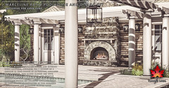 Trompe Loeil - Marceline Patio Poolhouse & Dining Set for Uber June