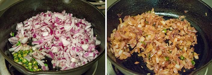 Kelvaragu Koozh cooking steps by GoSpicy.net