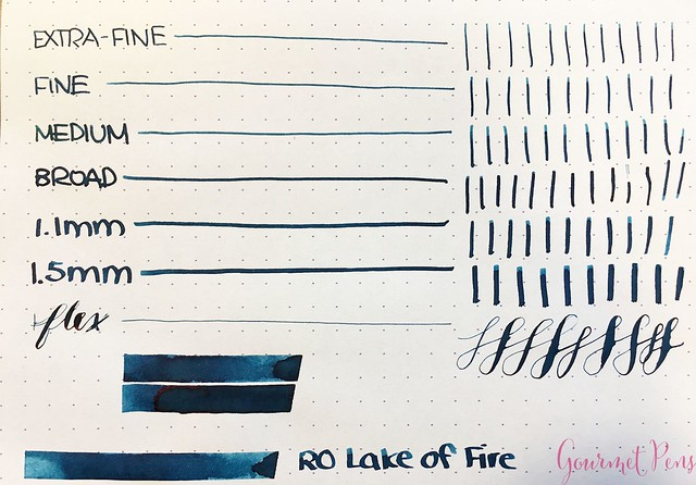 Robert Oster Lake of Fire Ink Review @RobertOsterSignature 4