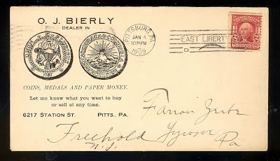 BIERLY, O. J. to ZERBE 1_4_1909 letter to Zerbe