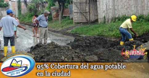 95% Cobertura del agua potable en la ciudad