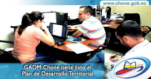 GADM Chone tiene listo el Plan de Desarrollo Territorial