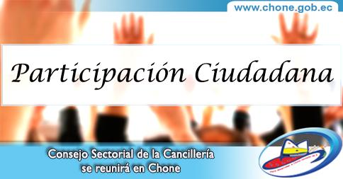 Consejo Sectorial de la Cancillería se reunirá en Chone