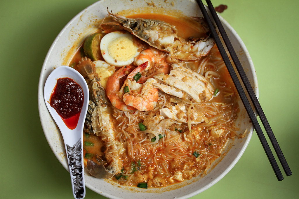 Famous Sungei Road Trishaw Laksa Mee Siam - Top Down