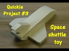 Make a Wooden Space Shuttle Toy (Quickie Project #3)