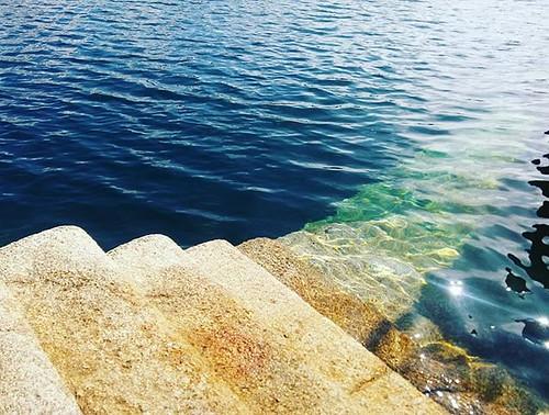 Escaleras hacia el mar. #Coruña #Marina #puertocoruña #phonephoto