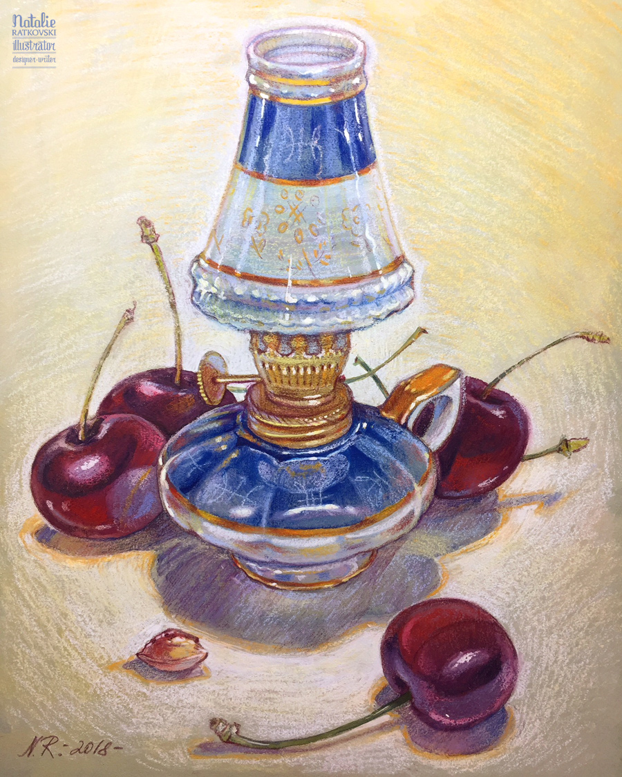 Still life with cheries