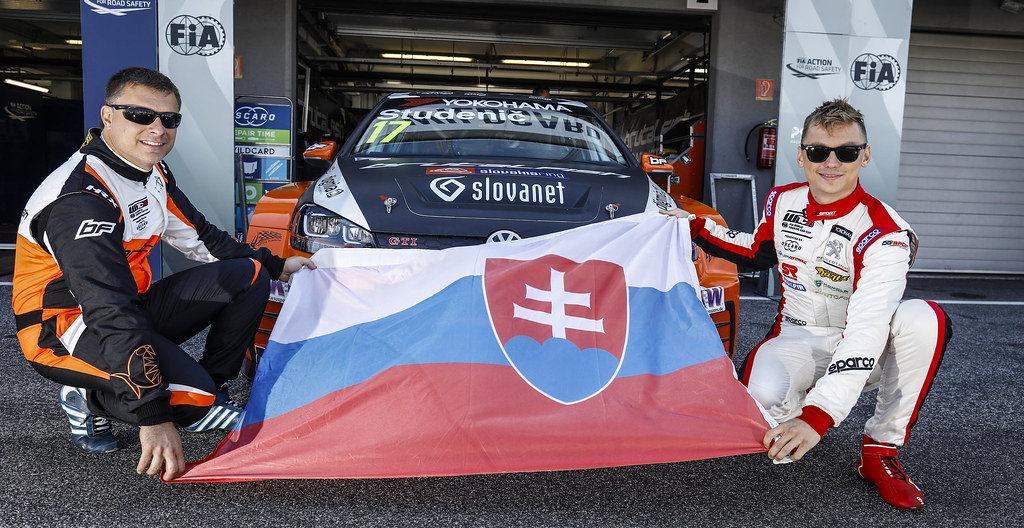 STUDENIC Andrej (SVK), Volkswagen Golf GTI TCR, Brutal Fish Racing Team, portrait HOMOLA Mato, (svk), Peugeot 308 TCR team DG Sport Competition, portrait during the 2018 FIA WTCR World Touring Car cup race of Slovakia at Slovakia Ring, from july 13 to 15 - Photo François Flamand / DPPI.