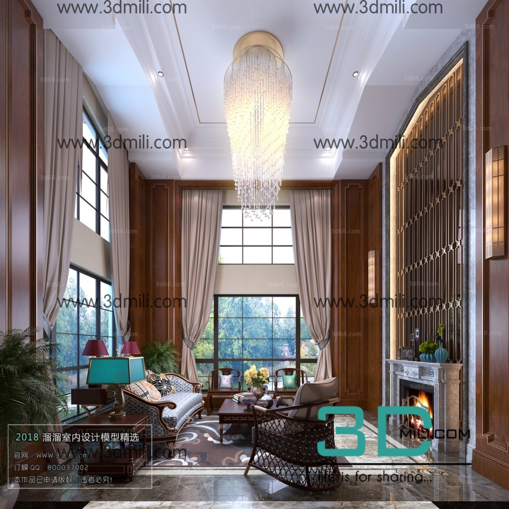 25. Mix Style Living Room 3Ds Max File Free Download