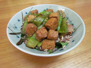 Tempeh and Snow Peas