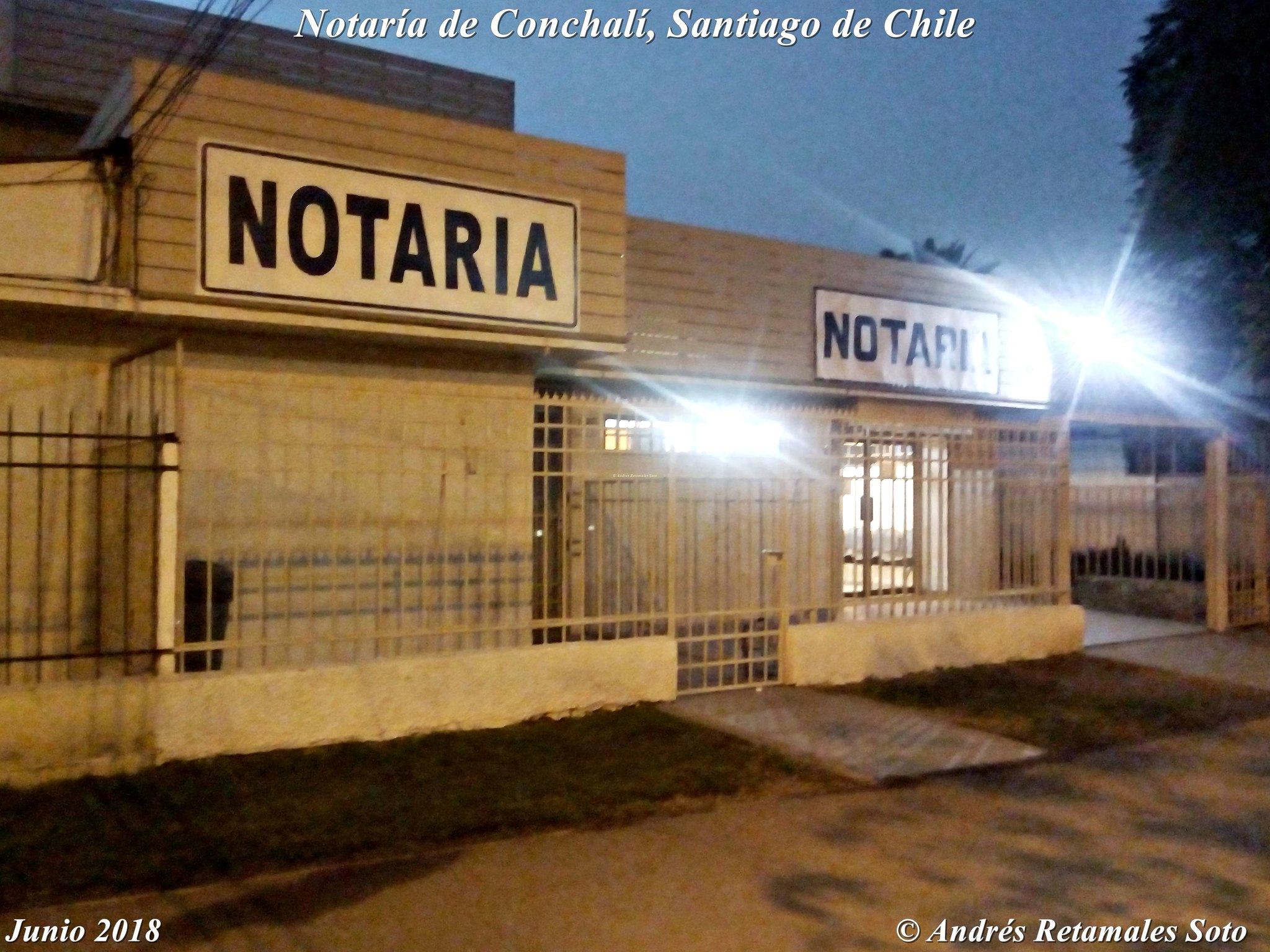 Notaría de Conchalí, Santiago de Chile, junio 2018