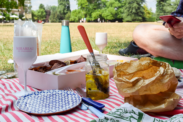 Summertime French Picnic In The Park