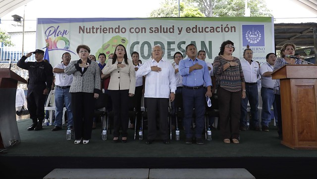 Lanzamiento del Consejo Departamental de Seguridad Alimentaria y Nutricional -CODESAN. Tacuba,Ahuachapán