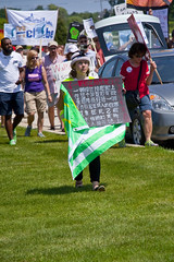 Protesting the Soon to be Built Foxconn Electronics Plant Mt. Pleasant Wisconsin 6-28-18  2073