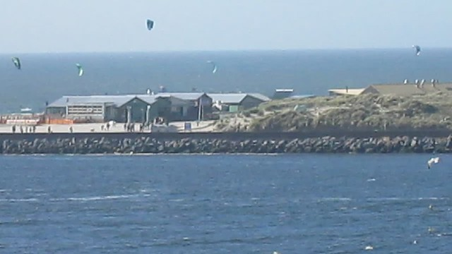 Windsurfers at IJmuiden, The Netherlands