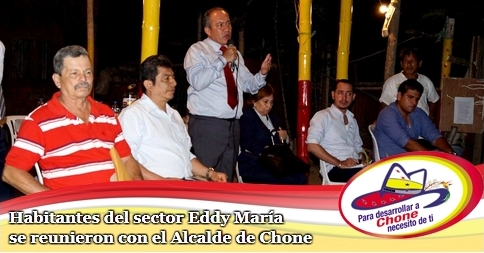 Habitantes del sector Eddy María se reunieron con el Alcalde de Chone