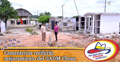 Cementerios recibirán mejoramiento del GADM Chone