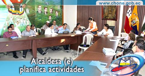 Alcaldesa (e) planifica actividades