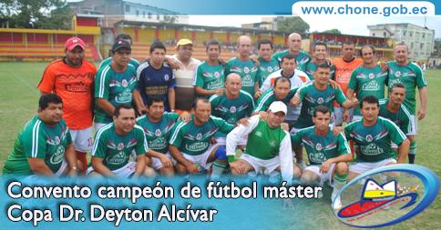 Convento campeón de fútbol máster Copa Dr. Deyton Alcívar